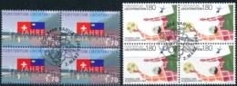 Zumstein 1113-1114 / Michel 1171-1172 Viererblockserie Mit ET-Zentrumstempel - Used Stamps