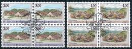 Zumstein 1119-1120 / Michel 1177-1178 Viererblockserie Mit ET-Zentrumstempel - Used Stamps