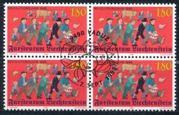 Zumstein 1121 / Michel 1179 Viererblockserie Mit ET-Zentrumstempel - Used Stamps