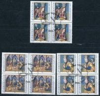 Zumstein 1125-1127 / Michel 1183-1185 Viererblockserie Mit ET-Zentrumstempel - Used Stamps