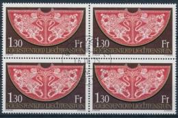 Zumstein 571 / Michel 634 Viererblockserie Mit Zentrumstempel Vaduz - Used Stamps