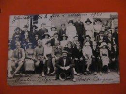 CARTE PHOTO CARIGNAN FETE EN 1921 - Autres Communes