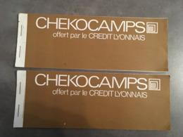 LOT DE 2 CHEKOCAMPS OFFERT PAR LE CREDIT LYONNAIS SCOUTISME COLONIE - Cheques & Traveler's Cheques