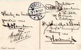 CF Expédiée De Kampen (NL) Vers Un Militaire Interné Au Camp De Harderwijk (1916) - Weltkrieg 1914-18