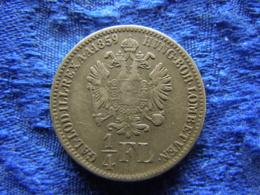 AUSTRIA 1/4 FLORIN 1859 B, KM2214 Scratched - Autriche