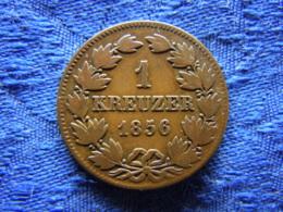 GERMANY BADEN 1 KREUZER 1856, KM232, GROSSHERZOG - Petites Monnaies & Autres Subdivisions