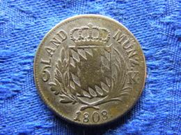 GERMANY BAVARIA 6 KREUZER 1808, KM686 - Petites Monnaies & Autres Subdivisions