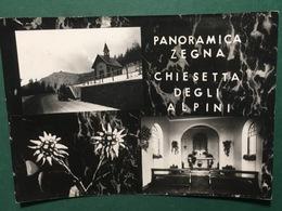 Cartolina Panoramica Zegna - Chiesetta Degli Alpini - 1956 - Vercelli