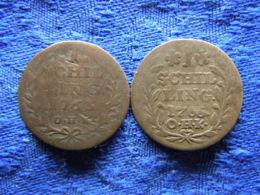 GERMANY HAMBURG 1 SCHILLING 1763, 1765, KM354 - Petites Monnaies & Autres Subdivisions
