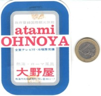 ETIQUETA DE HOTEL  - HOTEL OHNOYA  -ATAMI  -JAPON  (CON CHANELA) - Etiquetas De Hotel