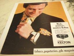 ANCIENNE PUBLICITE MODE JEUNESSE MONTRE KELTON 1967 - Bijoux & Horlogerie