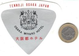 ETIQUETA DE HOTEL  - OSAKA MIYAKO HOTEL  -TENNOJI -OSAKA -JAPON - Etiquetas De Hotel