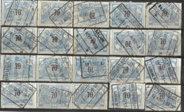 _9Sp-954:restje 20zegels: TR23 ...om Verder Uit Te Zoeken. - 1895-1913
