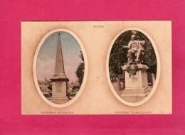 01 Ain, BOURG, Monument De Joubert, Monument Edgar-Quinet, Multivues, 1916, (L. L.) - Bourg-en-Bresse