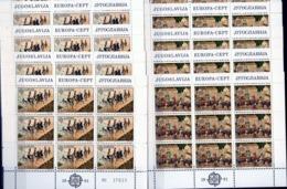 1981 Jugoslavia Yugoslavia EUROPA CEPT EUROPE 36 Serie Di 2v. MNH** In 8 Foglietti 8 Souvenir Sheets - 1981