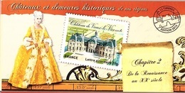 C32 - FRANCE N° BC726 CHATEAUX ET DEMEURES HISTORIQUES - Markenheftchen