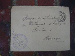Service Des Fabrications De L Aiation Sous Inspection 8 Cachet Franchise Postale Militaire Guerre 14.18 - Marcophilie (Lettres)