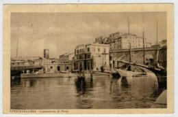 C.P. PICCOLA   CIVITAVECCHIA    CAPITANERIA  DI  PORTO         2 SCAN   (VIAGGIATA) - Civitavecchia