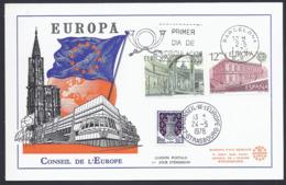 1978 ESPAGNE SPANIEN SPAIN  EUROPA CEPT CONSEIL DE L'EUROPE  FDC CARTE  PREMIER JOUR - 1931-Hoy: 2ª República - ... Juan Carlos I