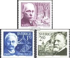 Suède 1093-1095 (complète.Edition.) Neuf Avec Gomme Originale 1979 Prix Nobel - Ongebruikt