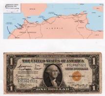 ALGERIE: RARE Billet De 1 Dollar (1935 A) Sceau Jaune Utilisé Par Les Troupes Américaines........... - Algeria