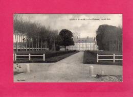 77 Seine Et Marne, QUINCY, Le Château, Vue De Face, 1918, (Panier) - Francia