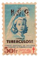 France  Vignette Antituberculose Grand Format 50f Le B C G - Antituberculeux