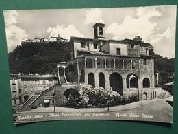 Cartolina Varallo Sesia - Chiesa Parrocchiale San Gaudenzio - Sfondo Sacro Monte - Vercelli