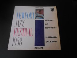 Disque Vinyle 33 Tours MAHALIA JACKSON Newport Jazz Festival 1958 - Vinyl-Schallplatten