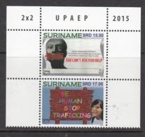 2015 Surinam Suriname Stop Human Trafficking UPAEP  Complete Pair MNH - Surinam
