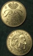 M_p> Monaco - Principato Di Monaco 5 FRANCHI 1974 Ranieri III - ALTA CONSERVAZIONE - Monaco
