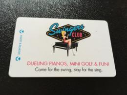Hotelkarte Room Key Keycard Clef De Hotel Tarjeta Hotel   LAS VEGAS PLAZA SWINGERS CLUB - Telefonkarten