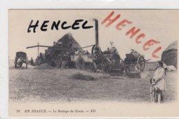 Le Battage Du Grain. Tracteur. Batteuse. Attelage - Landbouw