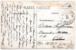 CV Expédiée De Rouen Vers Un Brancardier Belge à Calais Puis Réexpédiée Vers H.M.B. Le Cauvelat (Gard) - Weltkrieg 1914-18