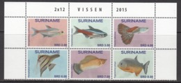 2015 Surinam Suriname Fish Poisson Marine Life  Complete Block Of 6 MNH - Surinam