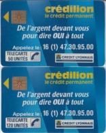 FRANCE - 50 Unités Et 120 Unités  - CREDILION  - Télécartes Utilisées - Frankrijk