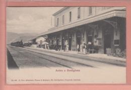 OLD POSTCARD - ITALY - ITALIA -  TRAIN - STATION - STAZIONE - BORDIGHERA - Imperia