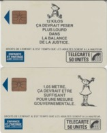 FRANCE - 50 Unités Et 50 Unités  - ENFANCE ET PARTAGE - FILLE ET GARCON  - Télécartes Utilisées - Frankrijk