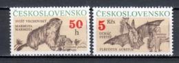 Czechoslowakia 1990 Mi 3063 + 3066 MNH MARMOT & BAT - Checoslovaquia