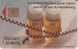 FRANCE - 50 Unités  - KRONENBOURG  - Télécarte Utilisée - Frankrijk