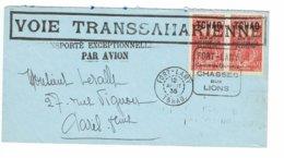 TCHAD Carré FORT LAMY Centre De Tourisme CHASSES AUX LIONS 1935 VOIE TRANSSAHARIENNE    L75 - Chad (1922-1936)