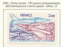 """PIA - FRAN -1981 : 34° Salone Internazionale Dell'Aeronautica E Dello Spazio - Aereo """"Mirage 2000""""   - (Yv P.A. 54) - Aerei"""