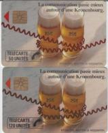 FRANCE - 50 Unités Et 120 Unités - KRONENBOURG  - Télécartes Utilisées - Frankrijk