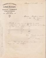 """45 MONTARGIS COURRIER 1913 Fabrique De Corsets """" La Ruche Montargoise """" Camille LEMARIE    - X39  LOIRET - Frankreich"""