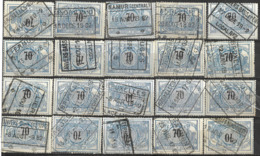 _9Sp-952:restje 20zegels: TR23 ...om Verder Uit Te Zoeken. - 1895-1913