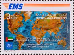 UAE 2019 NEW MNH - Joint Issue Stamp, EMS (Express Mail Service) - Emirati Arabi Uniti