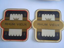 Etiket Etiquette 2 Rhum Vieux Form. 12,3 X 12,3 Cm - Etiketten