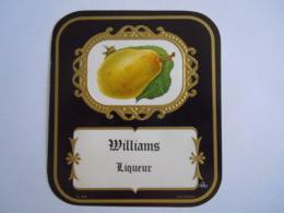Etiket Etiquette Williams Liqueur Poire Krugmann Form 10 X 11 Cm - Etiketten