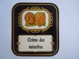 Etiket Etiquette Crème Des Noisettes, Photo De Noix Krugmann Form 10 X 11 Cm - Etiketten