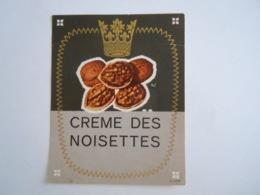 Etiket Etiquette Crème Des Noisettes Noix - Sonstige